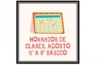 HORARIOS ACTUALIZADOS 5° a 8° BÁSICO