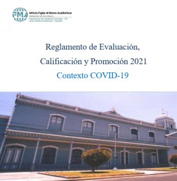 Reglamento de evaluación, calificación y promoción 2021