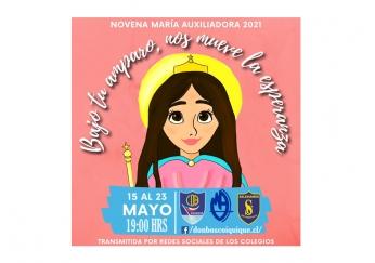 NOVENO DÍA DE LA NOVENA A MARÍA AUXILIADORA - 23 de Mayo a las 19:00 Hrs/ LMA IQQ