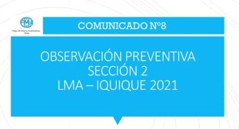COMUNICADO N°8 - 2021, OBSERVACIÓN PREVENTIVA SECCIÓN 2, 6° BÁSICO B