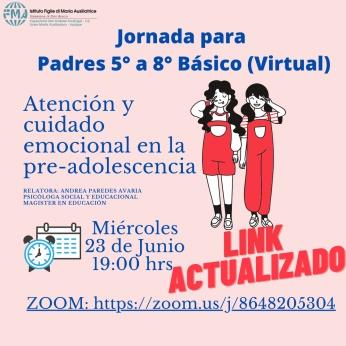 LINK ACTUALIZADO JORNADA PARA PADRES 5° a 8° BÁSICO