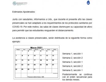 LISTADO DE CURSOS Y SU SECCIÓN