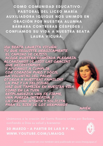 ORACIÓN DEL SANTO ROSARIO ONLINE POR BÁRBARA