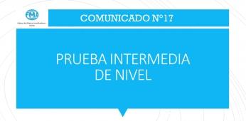 COMUNICADO N°17; PRUEBA INTERMEDIA DE NIVEL