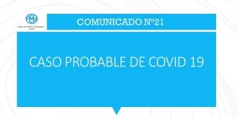 COMUNICADO N°21.- CASO PROBABLE DE COVID 19