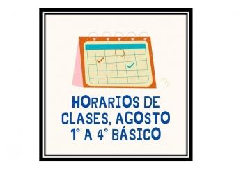 HORARIOS ACTUALIZADOS 1° a 4° BÁSICO