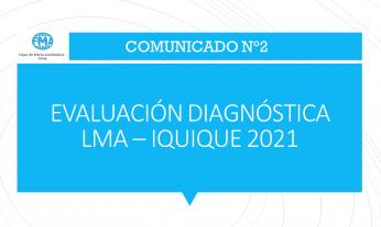 COMUNICADO N°2 - 2021, EVALUACIÓN DIAGNÓSTICA